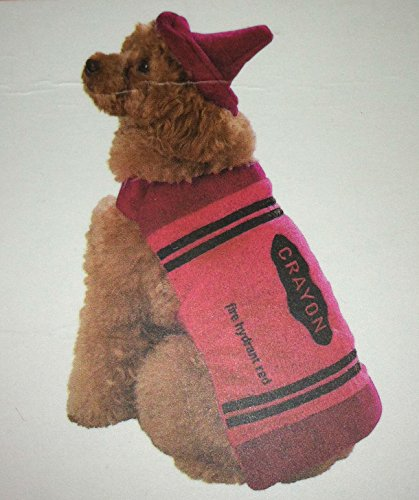 Red Crayon ~ Xs Plush Pet Costume front-45223