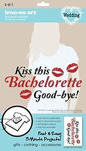 SEI 5-1/2-Inch by 9-1/4-Inch Kiss Bachelorette Goodbye Iron on Transfer, 1 Sheet at Sears.com