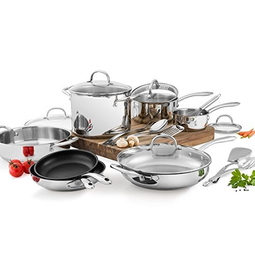 Wolfgang Puck Stainless Steel 18 PC cookware Set (Pots And Pans Set Wolfgang compare prices)