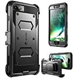 iPhone 7 Plus Case, i-Blason ArmorBox Daul Layer [Full body] [Heavy Duty Protection ] Shock Reduction / Bumper Case with built in Screen Protector for Apple iPhone 7 Plus 2016 Release (Black)