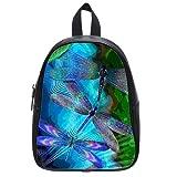 Artistic Styles colorful Dragonfly Comfortable Bookbag Kid's School Bag Satchel Shoulder Cover Outdoor