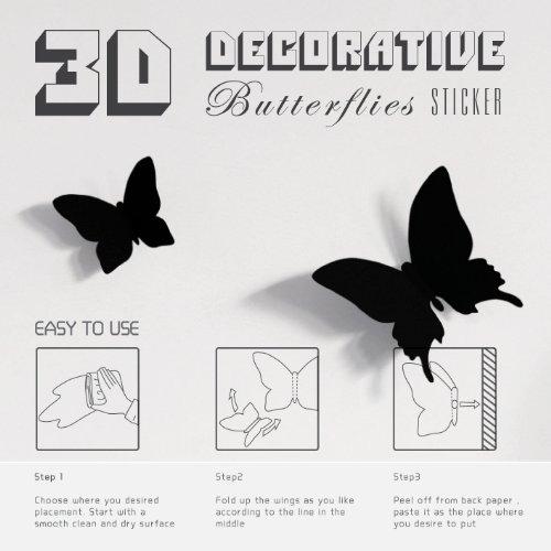 Black Butterfly Wall Decor Gossip Girl : Mariposa appear in gossip girl pcs pack d decorative