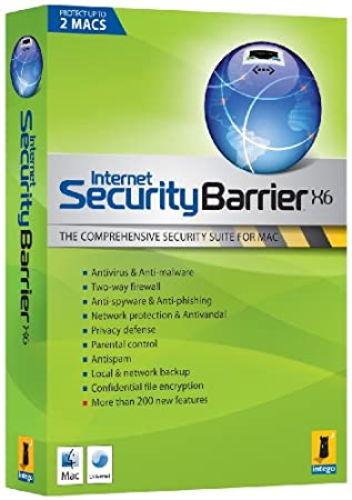 Intego Internet Security X6 Barrier 2 User 1 Year