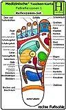 Reflexzonen Set - Medizinische Taschen-Karte: Fussreflexzonen Therapie Fusssohle, Fussrücken + Aussenseiten /Handreflexzonen Therapie