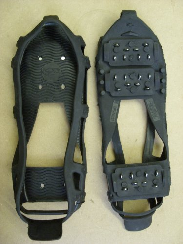Snow Grips Ice Shoe Crampons Anti Slip Cleats 24 Grippers Over shoes HEAVY DUTY[XL]