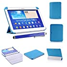 Multi Fold Smart Cover Case for Samsung Galaxy Tab 3 10.1 P5210/P5200 With Auto Sleep and Wake Up Function with Screen Protector and Stylus by SheathTM (Blue)
