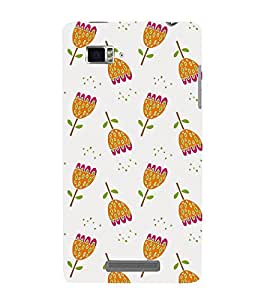 ANIMATED DUAL COLOURS FLOWERS PATTERN 3D Hard Polycarbonate Designer Back Case Cover for Lenovo Vibe Z K910