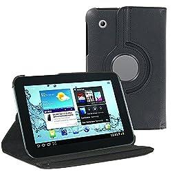 ZA eShop 360 Degree Rotate Leather Cover Case For Samsung Galaxy Tab 2 P3100 Black