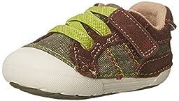 Stride Rite SRT SM Goodwin Sneaker (Infant/Toddler), Brown/Green, 3 M US Infant