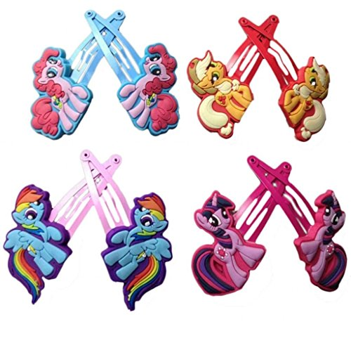 My Little Pony Barettes and Hair Clips for Kids, Hair Accessories, Pack of 4