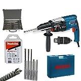 Bosch Hammer Drill GBH 2-28 DFV + MAKITA SDS-Plus Nemesis Drill Set & Chisel Set