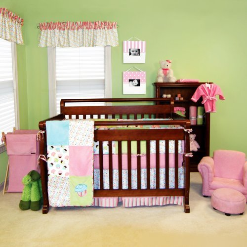 Pink And Teal Baby Bedding 9937 front