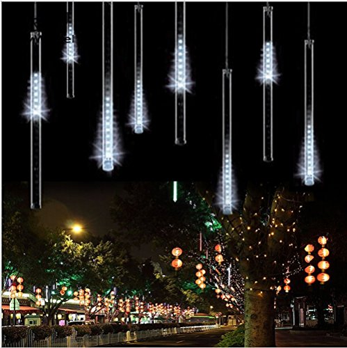 Esonstyle 50cm 8 Tube 240 Leds White Color Shower