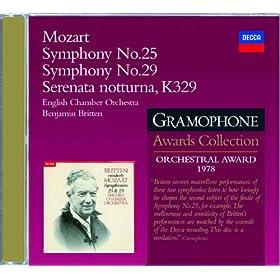 Mozart: Symphonies Nos.25 & 29; Serenata Notturna