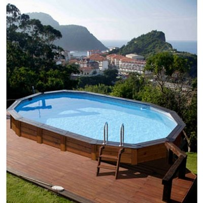 Masm piscinas hinchables tubulares de madera sobre tierra for Piscinas infantiles baratas