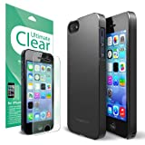 Rearth Ringke Slim Better Grip Premium Hard Case Cover with Free Premium Screen Protector for iPhone 5S/5 - Retail Packaging - Black