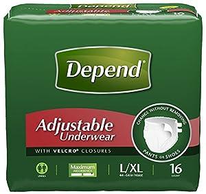 Amazon Com Depend Adjustable Underwear Maximum