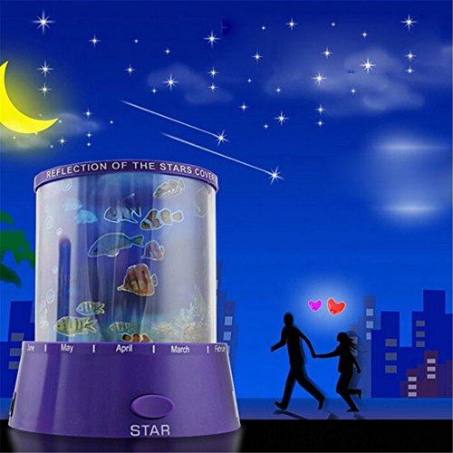 Room Decoration Romantic Ocean Led Night Light Sky Stars Projector Lamp Random Color