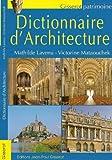 echange, troc LAVENU Mathilde, MATAOUCHEK Victorine - Dictionnaire d'Architecture