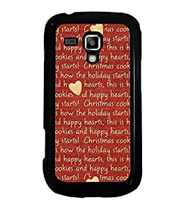 Hearts 2D Hard Polycarbonate Designer Back Case Cover for Samsung Galaxy S Duos S7562