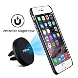 Soporte Magn�tico de Mov�l para Rejillas del Aire de Coche, Mpow Grip Magic Car Mount Universal para iPhone 6 Plus/6s/6/5 Android Smartphone GPS Naveg