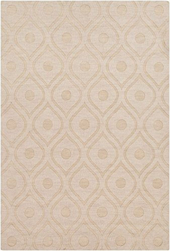 Artistic Weavers Solid/Striped Rectangle Area Rug 6'x9' Ivory Central Park Zara Collection (Central Park Rug compare prices)