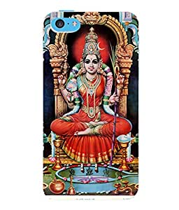 Fuson 3D Printed Lord Laxmi Designer Back Case Cover for Apple iPhone 5C - D520