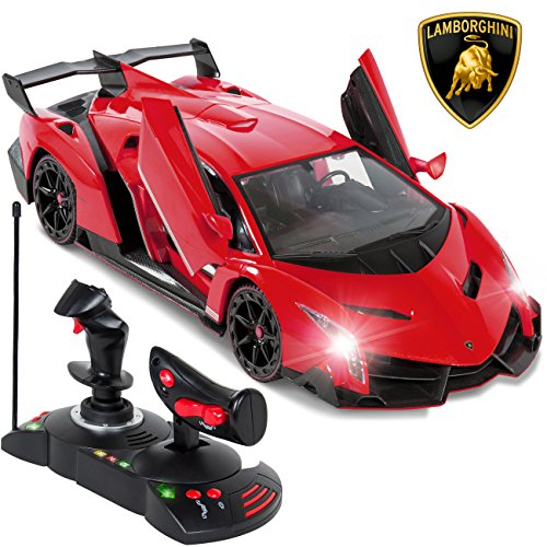 Best Choice Products 1/14 Scale RC Lamborghini Veneno Gravity Sensor Remote Control Car Red (Battery For Car Control Remote compare prices)