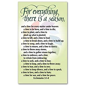 peace prayer holy card for everything there is a season bible verse other. Black Bedroom Furniture Sets. Home Design Ideas