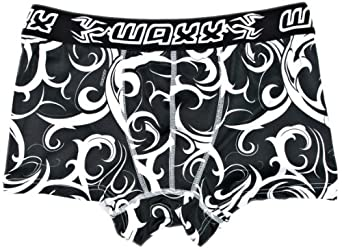 Waxx Maori Without Fly Men's Boxers Black/White Small