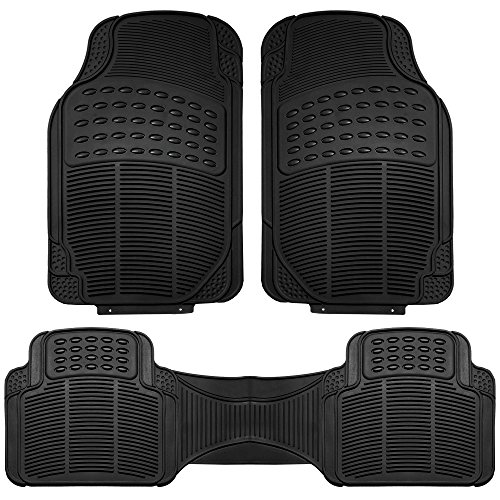 FH GROUP FH-V16404 All Weather Rubber Auto Floor Mats Liner - 3pc Set Black (Forros Para Autos compare prices)