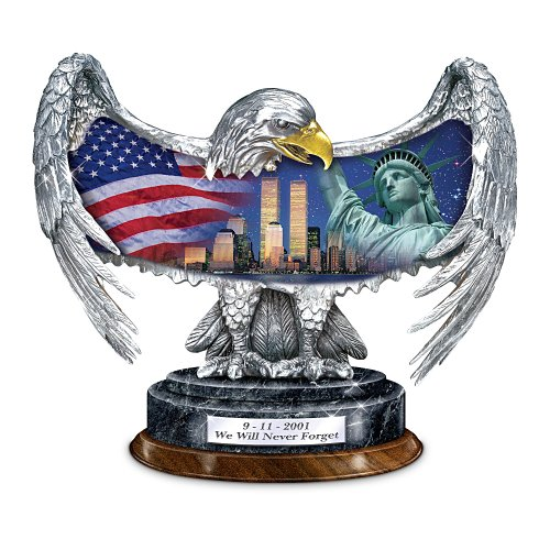 Patriotic Eagle Figurine: Commemorating September 11, 2001 by The Bradford Exchange