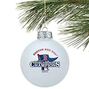 Boston Red Sox Official MLB 3 inch Glass Ball Christmas Ornament