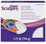 Polyform Sculpey Original Polymer Clay 1-3/4 Lbs: White