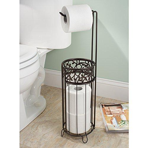 Interdesign Vine Free Standing Toilet Paper Holder For Bathroom Bronze Home Garden Accessories