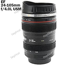 1:1 Camera Lens Style EF 24-105mm Lens Coffee Mug Cup Pen Holder with Cap HLI-156430