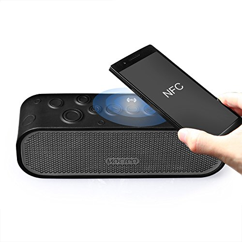 MOCREO®防沫防滴IPx5防水Bluetoothスピーカー ワイヤレススピーカー Bluetooth speakers、屋内/屋外ウルトラミニ、バッテリー内蔵 ハングアップリングデザイン持ち運び簡単/充電式 最新Bluetooth 4.0 NFCスピーカー NFC対応 iPhone 6/6 plus/6+/5s/5C/4s;Samsung galaxy S5/S4/S3,Samsung Note 2;HTC,iPad Air/5;iPad mini Retina;iPod対応 MOSOUND Crater ブラック