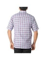 COTTON NATURAL Men's Checkered Formal Shirt - B00REQCR18