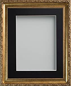 Frame Company Brompton Range Gold Picture Photo Frame With Black Mount * Choice of Sizes*