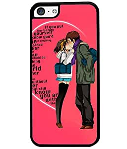 Fuson Love Couple Back Case Cover for APPLE IPHONE 5C - D3989