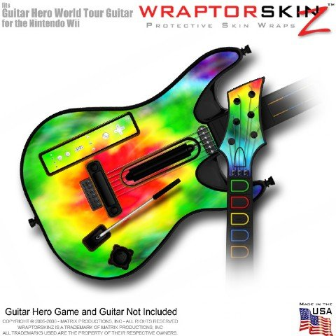Tie Dye Skin fits Band Hero, Guitar Hero 5 & World Tour Guitars for Nintendo Wii (GUITAR NOT INCLUDED) by WraptorSkinz