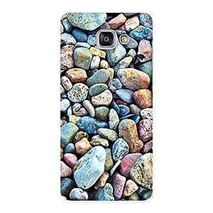 Impressive Pebbles Multicolor Back Case Cover for Galaxy A7 2016