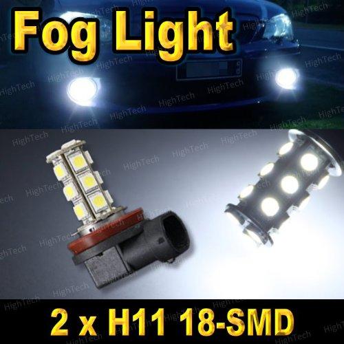 Pair Super White H11 18-Smd 5050 Led Headlight Bulbs For Driving Fog Light / Day Time Running Light Drl