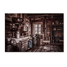 Trademark Fine Art Old Farm House Artwork by Erik Brede, 16 by 24-Inch