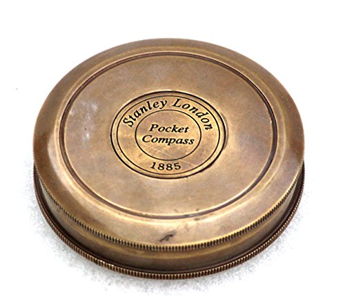 Vintage Style Maritime Collectible Compass Brass Finish 2