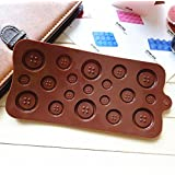 Blovess Silicone Button Chocolate Jelly Ice Muffin Sweet Candy Sugar Craft Fondant Mold Mould/ Tray Cake Decorating Tools, Xmas DIY