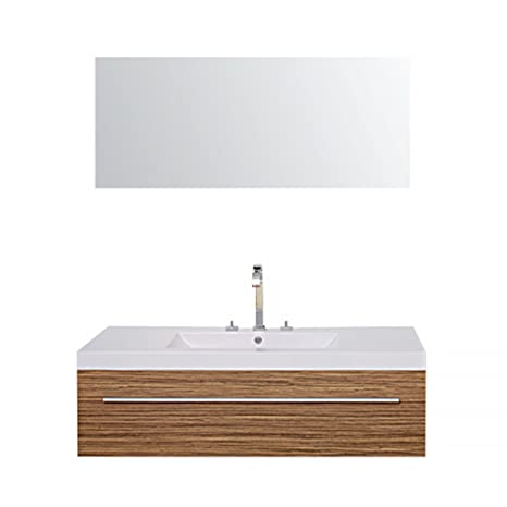 Bathroom Furniture Set Bern in dark wood