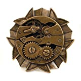Steampunk Watch Gears Adjustable Ring in Antique Gold