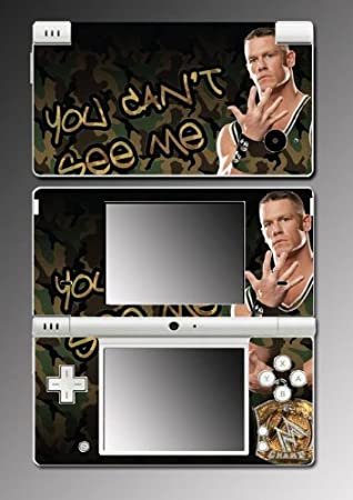 John Cena Wrestling Champion WWE Game Vinyl Decal Skin Protector Cover #1 for Nintendo DSi