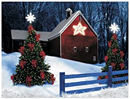 Ohio Wholesale Radiance Lighted Barn Star Canvas Wall Art